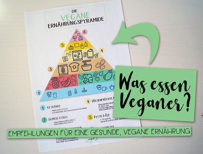 Die vegane Ernährungspyramide | Empfehlungen für eine gesunde & ausgewogene vegane Ernährung + free printable
