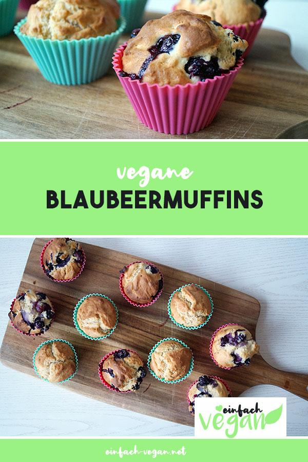Rezept | vegane Blaubeermuffins | einfach vegan